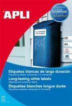 APLI Etikett, 99,1x67,7 mm, poliészter, időjárásálló, kerekített sarkú, APLI, 160 etikett/csomag