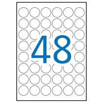 APLI Etikett, 30 mm kör, poliészter, időjárásálló, APLI, 960 etikett/csomag