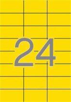 APLI Etikett, 70x37 mm, színes, APLI, sárga, 480 etikett/csomag