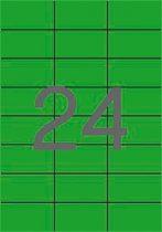 APLI Etikett, 70x37 mm, színes, APLI, zöld, 480 etikett/csomag