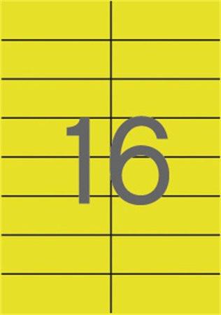APLI Etikett, 105x37 mm, színes, APLI, sárga, 320 etikett/csomag