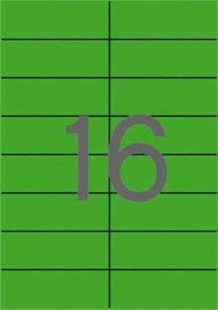 APLI Etikett, 105x37 mm, színes, APLI, zöld, 320 etikett/csomag