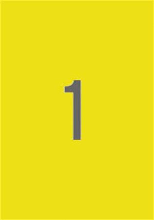 APLI Etikett, 210x297 mm, színes, APLI, sárga, 20 etikett/csomag