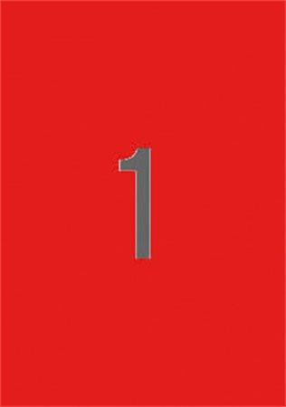 APLI Etikett, 210x297 mm, színes, APLI, piros, 20 etikett/csomag