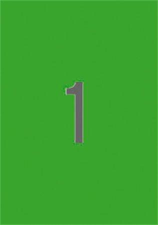 APLI Etikett, 210x297 mm, színes, APLI, zöld, 20 etikett/csomag