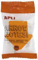 """APLI  Öntapadó jegyzettömb, nyíl alakú, 200 lap, APLI """"Arrow notes"""""""
