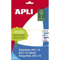 APLI Etikett, 50x70 mm, kézzel írható, kerekített sarkú, APLI, 40 etikett/csomag