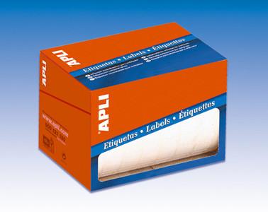 APLI Etikett, 25 mm kör, kézzel írható, tekercsben, APLI, 2400 etikett/csomag