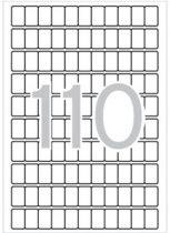 APLI Etikett, 12x18 mm, kerekített sarkú, A5 hordozón, APLI, 1650 etikett/csomag