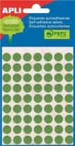 APLI Etikett, 10 mm kör, kézzel írható, színes, APLI, zöld, 315 etikett/csomag
