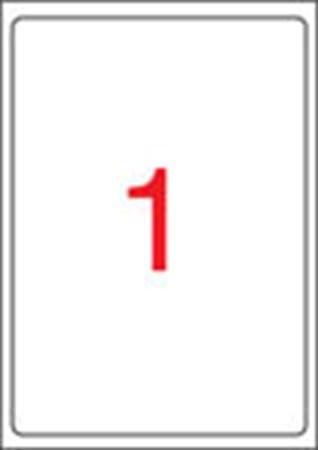 APLI Etikett, univerzális, 199,6x289,1 mm, kerekített sarkú, APLI, 100 etikett/csomag