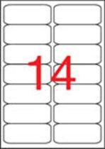 APLI Etikett, univerzális, 99,1x38,1 mm, kerekített sarkú, APLI, 1400 etikett/csomag