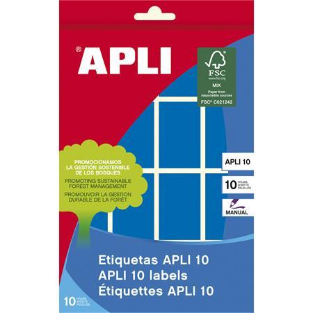 APLI Etikett, 25x40 mm, kézzel írható, színes, kerekített sarkú, APLI, kék, 128 etikett/csomag