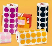 APLI Etikett, 20mm kör, kézzel írható, tekercsben, színes, APLI, piros 1700 etikett/csomag