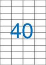 VICTORIA Etikett, univerzális, 52,5x29,7 mm, VICTORIA, 4000 etikett/csomag