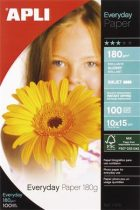"APLI Fotópapír, tintasugaras, 10x15 cm, 180 g, fényes, APLI ""Everyday"""