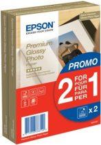 EPSON S042167 Fotópapír, tintasugaras, 10x15, 255 g, fényes, 2x40 lap, EPSON