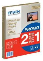 EPSON S042169 Fotópapír, tintasugaras, A4, 255 g, fényes, 2x15 oldal, EPSON