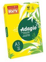 """REY Másolópapír, színes, A3, 80 g, REY """"Adagio"""", intenzív sárga"""