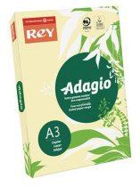 """REY Másolópapír, színes, A3, 80 g, REY """"Adagio"""", pasztell sárga"""