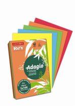 """REY Másolópapír, színes, A4, 80 g, 5x100 lap, REY """"Adagio"""", intenzív mix"""