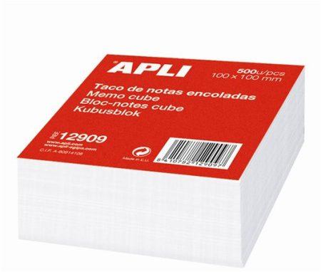 APLI Kockatömb, 100x100 mm, ragasztott, APLI, fehér