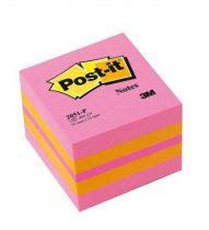 3M POSTIT Öntapadó jegyzettömb, 51x51 mm, 400 lap, 3M POSTIT, pink