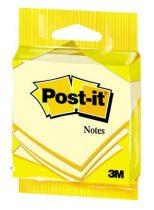 3M POSTIT Öntapadó jegyzettömb, 76x76 mm, 100 lap, 3M POSTIT, sárga
