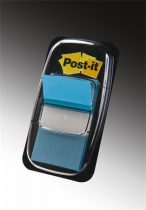 3M POSTIT Jelölőcímke, műanyag, 50 lap, 25x43 mm, 3M POSTIT, kék