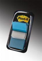 3M POSTIT Jelölőcímke, műanyag, 50 lap, 25x43 mm, 3M POSTIT, élénk kék