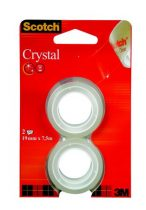 "3M SCOTCH Ragasztószalag, 19 mm x 7,5 m, 3M SCOTCH ""Crystal"""