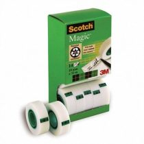 "3M SCOTCH Ragasztószalag, 2 db ajándék, 19 mm x 33 m, 3M SCOTCH ""Magic tape 810"""