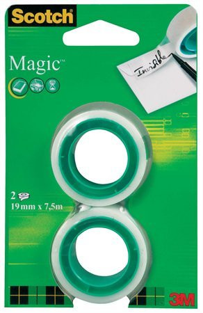 "3M SCOTCH Ragasztószalag, 19 mm x 7,5 m, 3M SCOTCH ""Magic tape 810"""