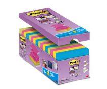 "3M POSTIT Öntapadó jegyzettömb csomag, ""Z"", 76x76 mm, 16x90 lap, 3M POSTIT, ""Super Sticky"", vegyes"