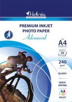 """VICTORIA Fotópapír, tintasugaras, A4, 240 g, fényes, VICTORIA """"Advanced"""""""
