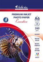 """VICTORIA Fotópapír, tintasugaras, A6, 260 g, magasfényű, VICTORIA """"Executive"""""""