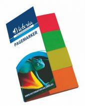 VICTORIA Jelölőcímke, papír, 4x40 lap, 20x50 mm, VICTORIA, vegyes szín