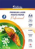 """VICTORIA Fotópapír, lézer, A4, 200 g, fényes, kétoldalas, VICTORIA """"Professional"""""""