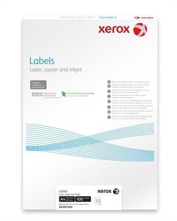 XEROX Etikett, univerzális, 105x37 mm, XEROX, 1600 etikett/csomag