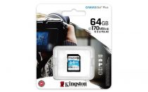 "KINGSTON Memóriakártya, SDXC, 64GB, C10/UHS-I/U3/V30/A2, KINGSTON ""Canvas Go! Plus"""