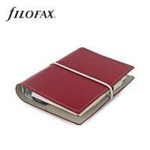 """FILOFAX Kalendárium, gyűrűs, betétlapokkal, pocket méret, FILOFAX, """"Domino"""", piros"""