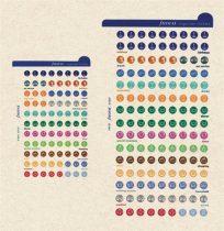 FILOFAX Kalendárium betét, öntapadó szervezőcímke, kicsi, FILOFAX, színes