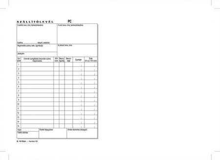 """VICTORIA Nyomtatvány, szállítólevél, 50x2, A5, VICTORIA """"B.10-70"""", 10 tömb/csomag"""