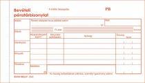 """VICTORIA Nyomtatvány, bevételi pénztárbizonylat, 25x3, VICTORIA """"B.318-102"""", 10 tömb/csomag"""