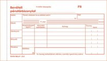 """VICTORIA Nyomtatvány, bevételi pénztárbizonylat, 25x3, VICTORIA """"B.318-102"""""""
