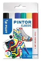 """PILOT Dekormarker készlet, 1 mm, PILOT """"Pintor F"""" 6 különböző klasszikus szín"""