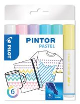 """PILOT Dekormarker készlet, 1,4 mm, PILOT """"Pintor M"""" 6 különböző pasztell szín"""