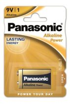 "PANASONIC Elem, 9V, 1 db, PANASONIC ""Alkaline power"""