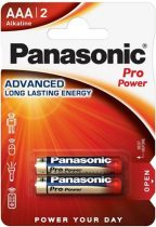 "PANASONIC Elem, AAA mikro, 2 db, PANASONIC ""Pro power"""