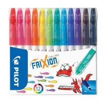 """PILOT Filctoll készlet, 0,39-0,7 mm, törölhető, PILOT """"Frixion Colors"""", 12 különböző szín"""